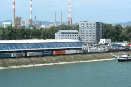 Freudenau harbour - north view © Hafen Wien